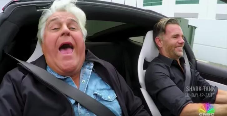 Поездка Джея Лено в Tesla Roadster нового поколения 1