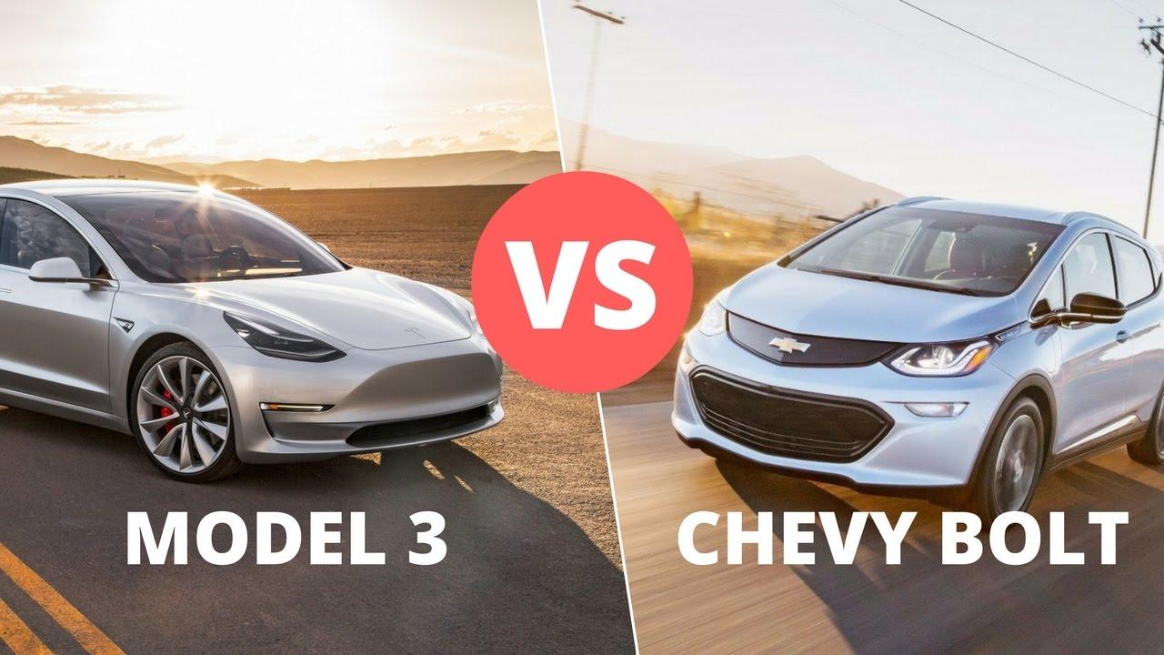 Сравнение электромобилей: Tesla Model 3 против Chevy Bolt 34