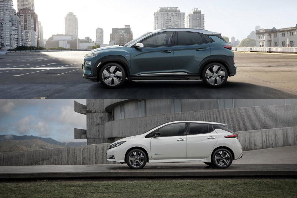 Hyundai Kona Electric против Nissan LEAF 1